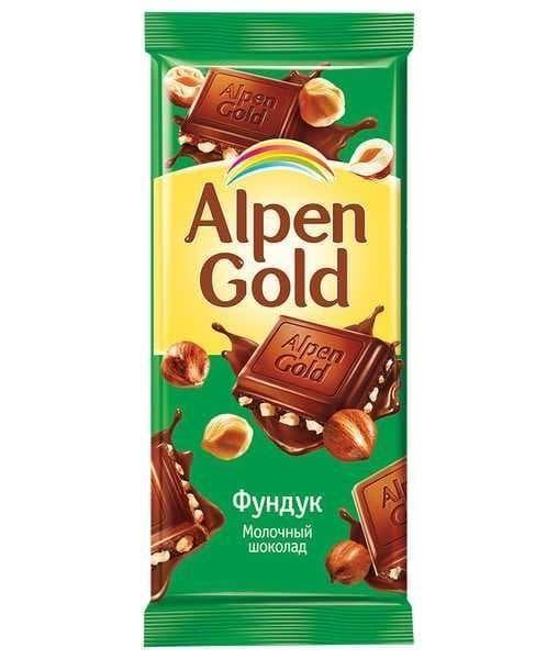 Шоколад Альпен Голд Фундук Alpen Gold 90г