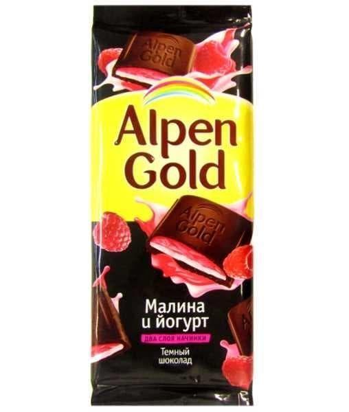Шоколад Альпен Голд Темный Малина и йогурт Alpen Gold 90г