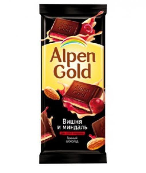 Шоколад Альпен Голд Вишня и миндаль Alpen Gold 90г