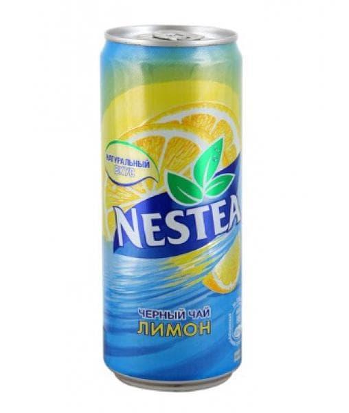 Чай Нестиа Лимон 330мл банка Nestea lemon tea 0.33