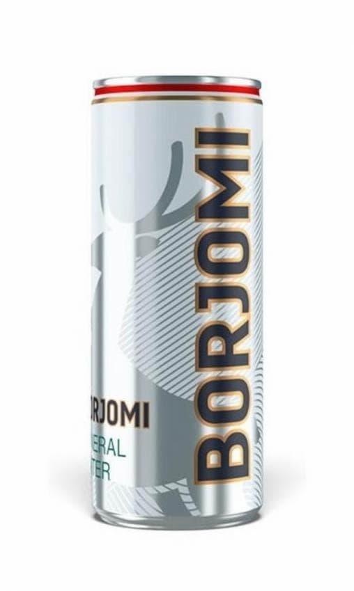 Боржоми минеральная вода Borjomi с газом 330 мл банка