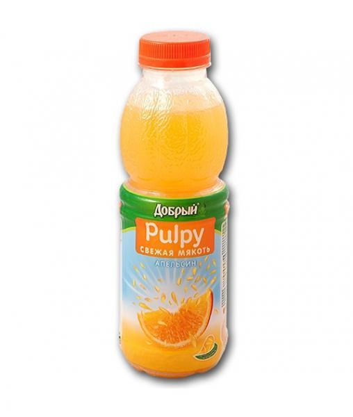 Добрый Палпи Pulpy Апельсин 450 мл ПЭТ 0,45л