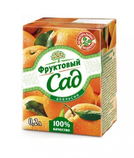 Фруктовый сад Апельсин 200 мл тетрапак 0.2