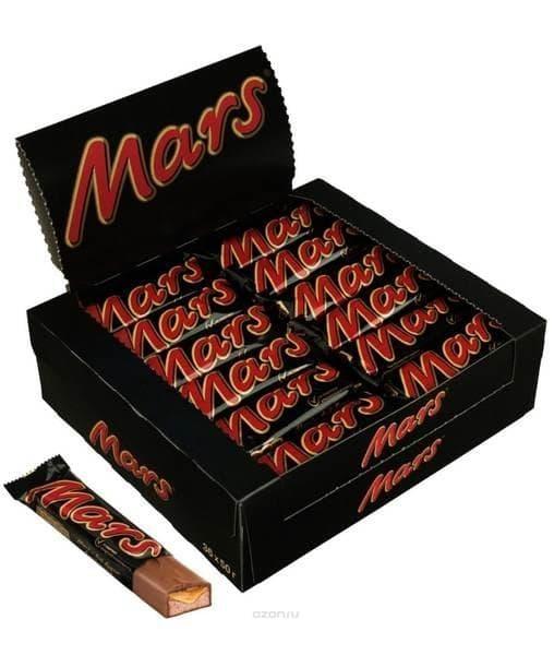 Батончик шоколадный Марс Mars 50г