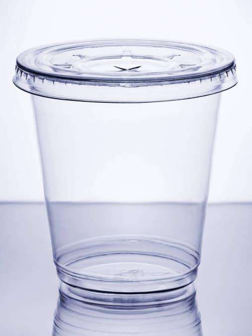 Крышка плоская прозрач. с прорезью d=95мм