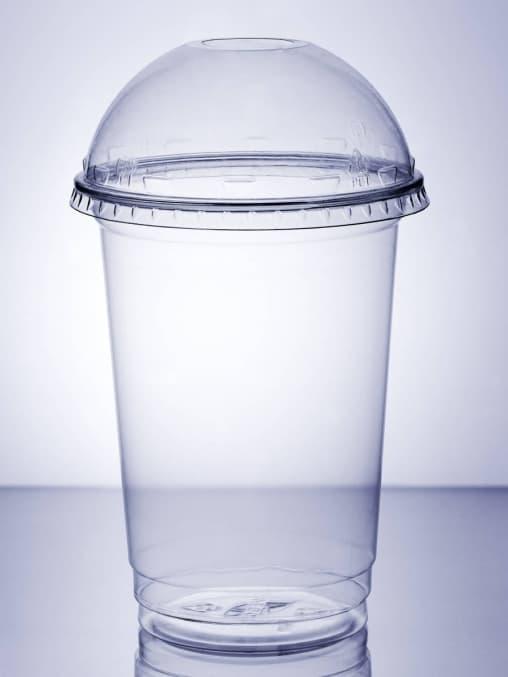 Крышка купольная прозрач. с отверстием d=95мм