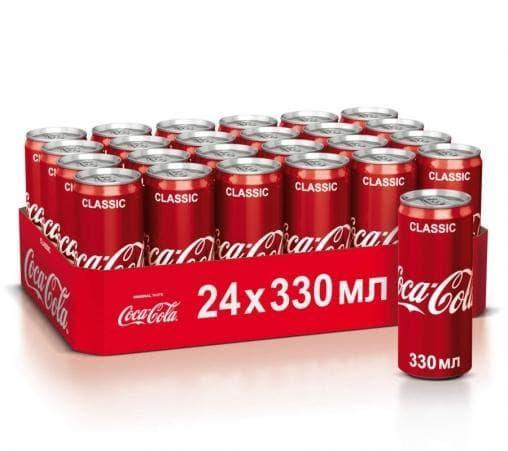 Газированный напиток Coca-Cola Classic 330мл