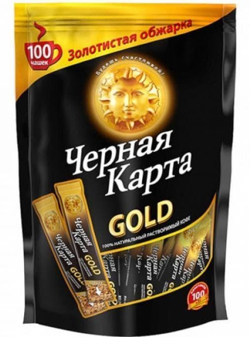 Кофе раств. Черная Карта Gold стики 2г х 100 шт.