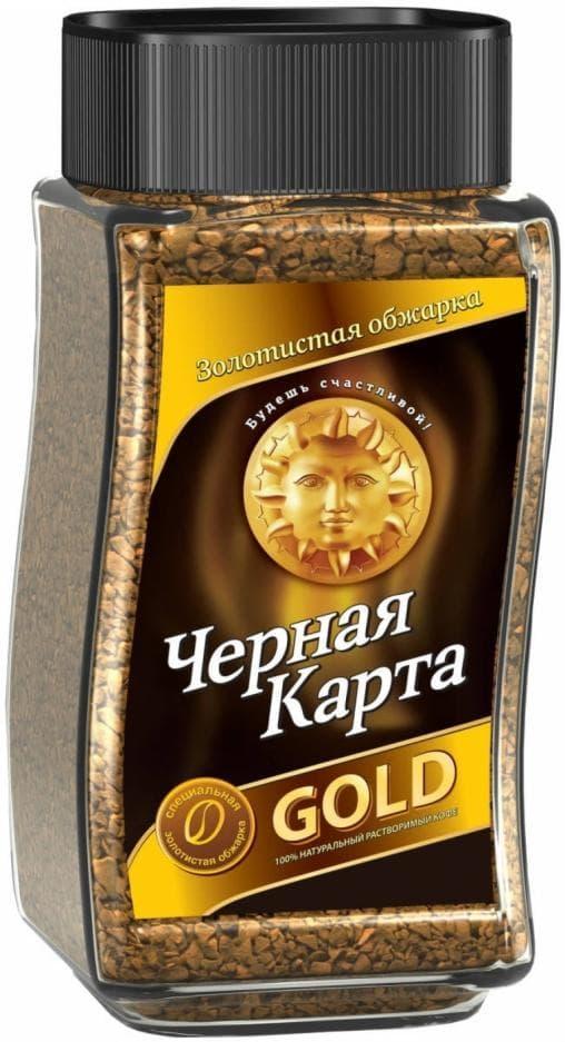 Кофе раств. Черная Карта Gold стекл. банка 190 г PROMO