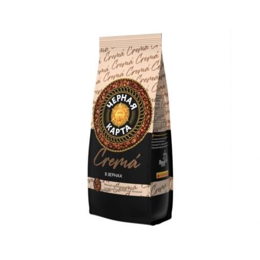 Кофе в зернах Черная карта Crema 200 г