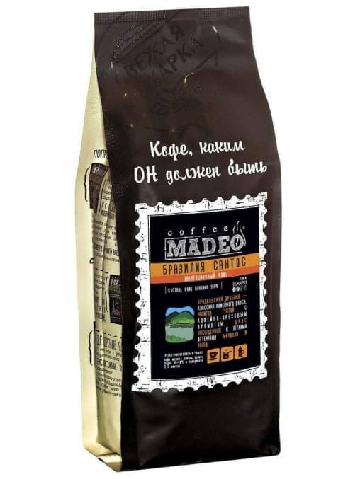 Кофе в зернах Madeo Бразилия Сантос 1000 г