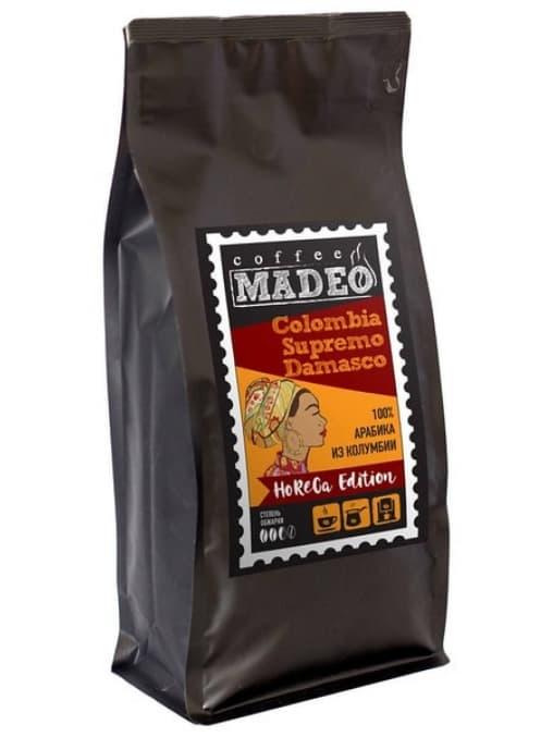 Кофе в зернах Madeo Colombia Supremo Damasco 1000 г