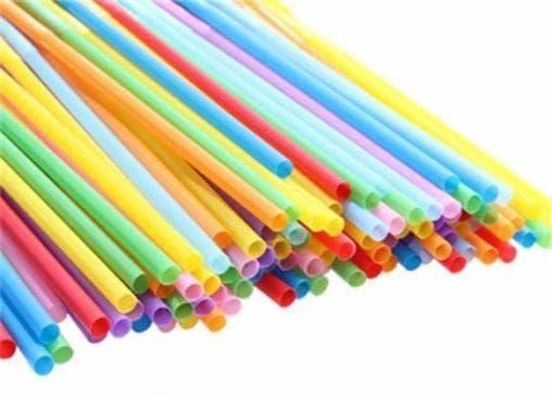 Пластиковые трубочки цветные с изгибом 210мм d=5мм