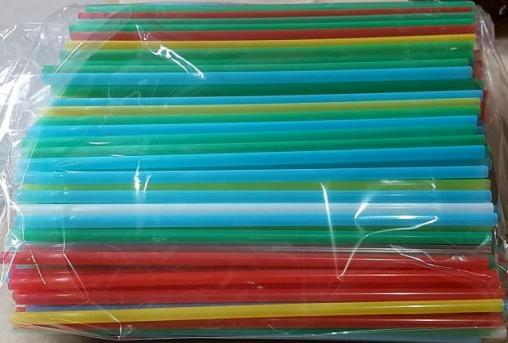 Пластик. трубочки цветные прямые MILK 240мм d=8мм