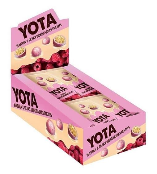 Драже YOTA Хрустящий шарик в белой малиновой глазури 40 г