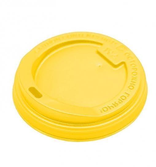 Крышка для стакана (100 шт) Жёлтая d=80