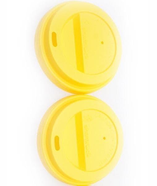 Крышка для стакана (100 шт) Жёлтая ∅ 90