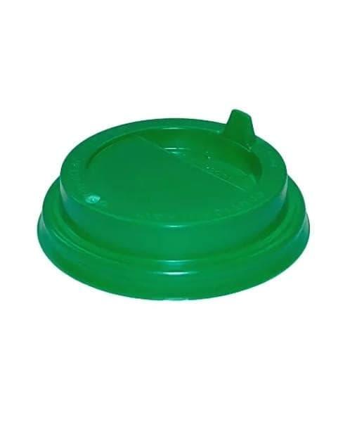 Крышка с клапаном (100 шт) Зеленая ∅ 80