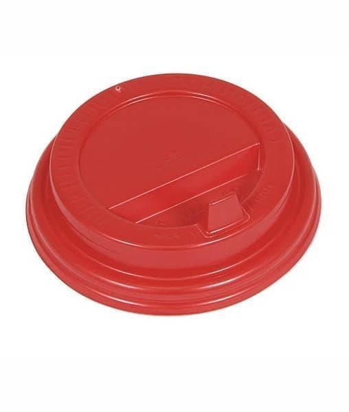 Крышка с клапаном (100 шт) Красная ∅ 80
