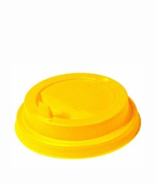 Крышка с клапаном (100 шт) Желтая d=80