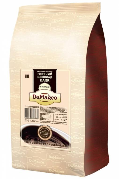 Горячий шоколад в гранулах DeMarco Granule Dark 1000 гр
