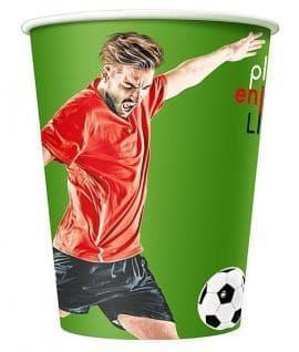 Бумажный стакан Football цветной (100 шт) ∅90 400мл