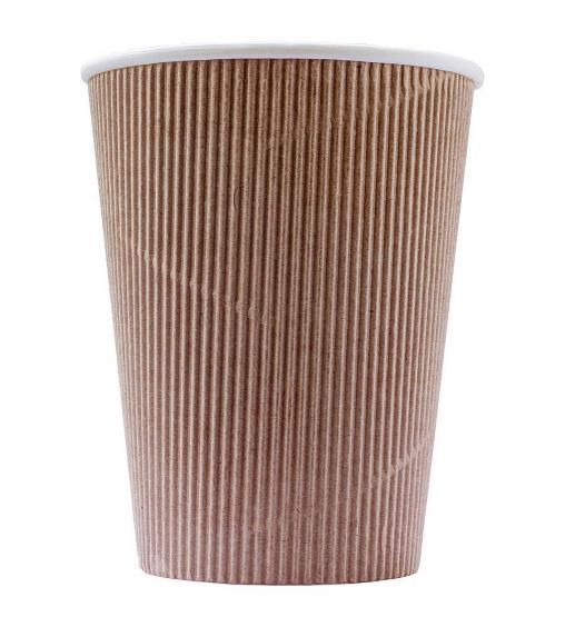 Бумажный стакан Крафт 3-слойный d=90 300мл