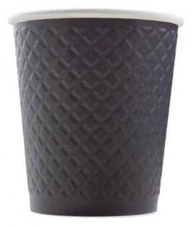 Стакан бумажный Waffle чёрный 300 мл 2-слоя (100 шт)
