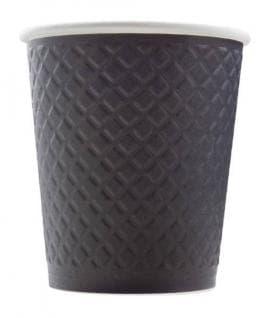 Бумажный стакан Waffle Черный 2-слойный d=80 250мл