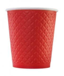 Бумажный стакан Waffle Красный 2-слойный d=80 250мл
