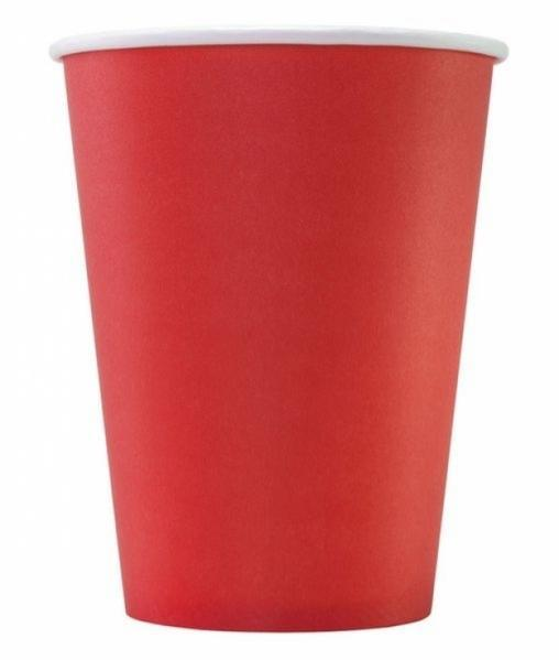 Бумажный стакан Красный d=90 300мл