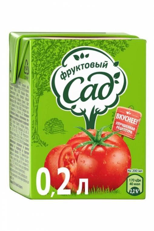 Сок Фруктовый Сад Томат 200 мл тетрапак