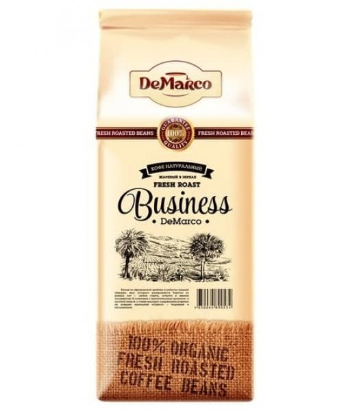 Кофе в зернах DeMarco Fresh Roast Business 1000 гр (1 кг)