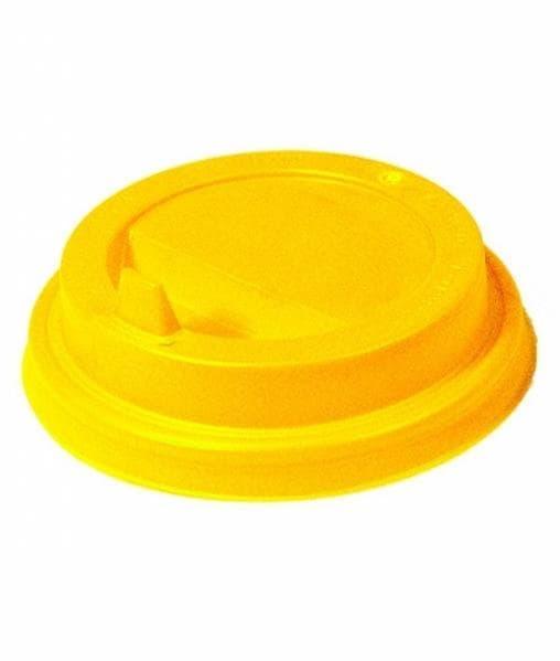 Крышка с клапаном (100 шт) Желтая d=90