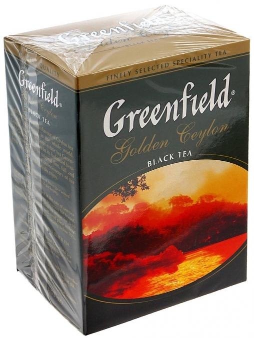 Чай черный Greenfield Golden Ceylon листовой 100г