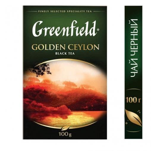 Чай черный Greenfield Golden Ceylon листовой 100г