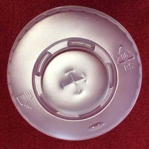 Крышка матовая с крестовой прорезью под соломинку d=90мм
