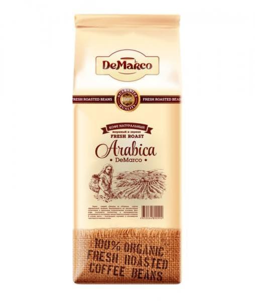 Кофе в зернах DeMarco Fresh Roast Арабика 1000 гр (1 кг)