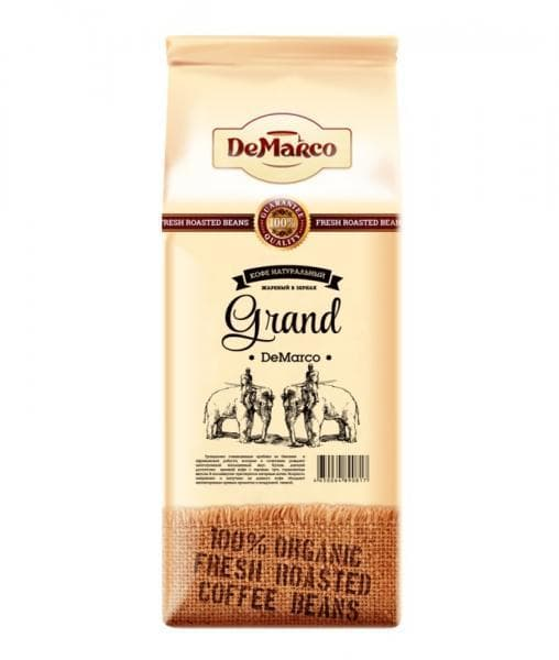 Кофе в зернах DeMarco Fresh Roast Grand 1000 гр (1 кг)