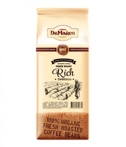 Кофе в зернах DeMarco Fresh Roast Rich 1000 гр (1 кг)