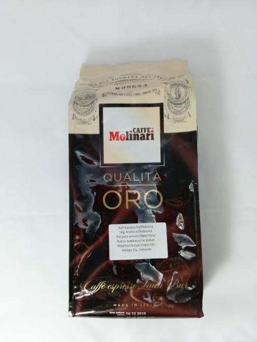 Кофе в зернах Caffe Molinari Qualita Oro 1000 гр (1кг)