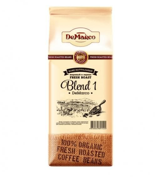 Кофе в зернах DeMarco Fresh Roast Blend-1 1000 гр (1 кг)