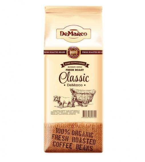Кофе в зернах DeMarco Fresh Roast Classic 1000 гр (1 кг)
