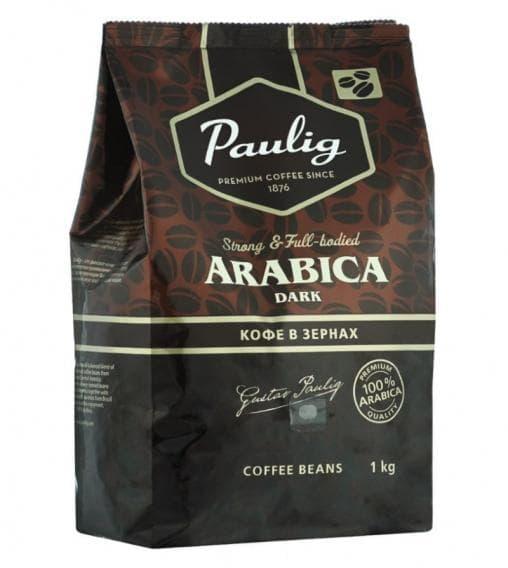 Кофе в зернах Paulig 100% Arabica Dark 1000 гр (1кг)