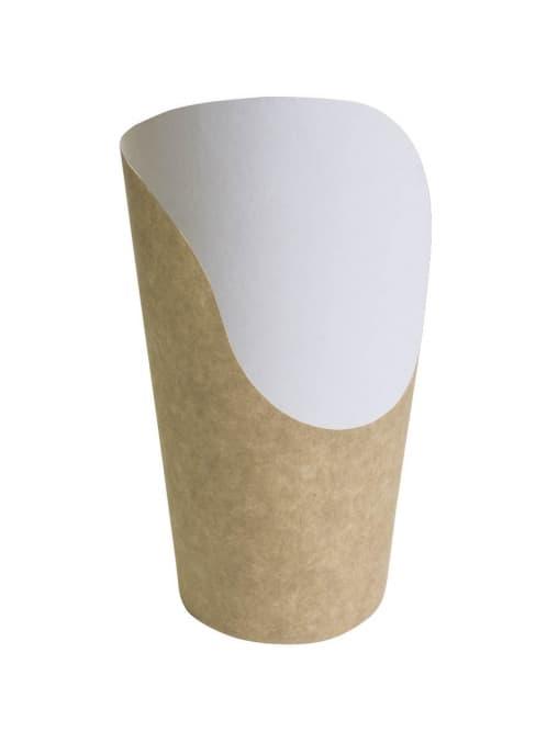 Стакан-совок бумажный для снеков Крафт 400мл