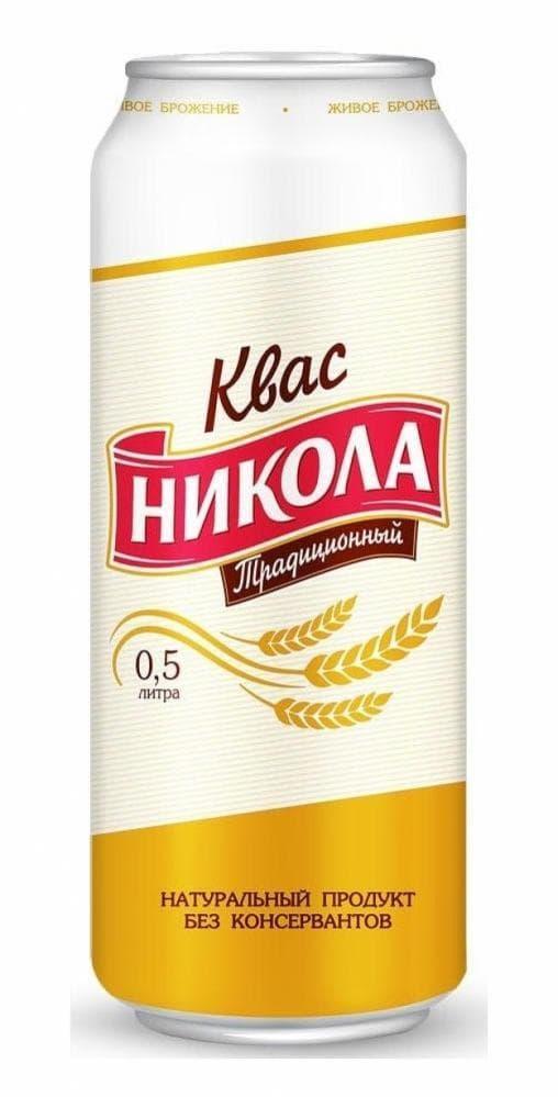 Квас Никола Традиционный 500мл ж/б