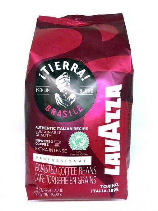 Кофе в зернах Lavazza ¡TIERRA! Brasile Extra intense 1000 г (1 кг)
