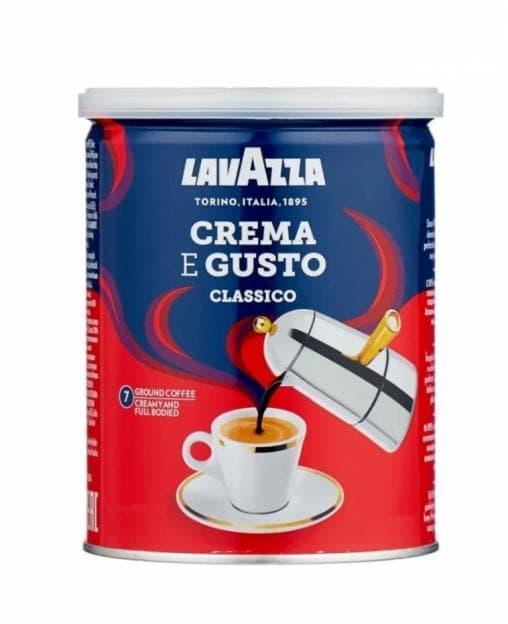 Кофе молотый Lavazza Crema e Gusto 250 грамм (банка)
