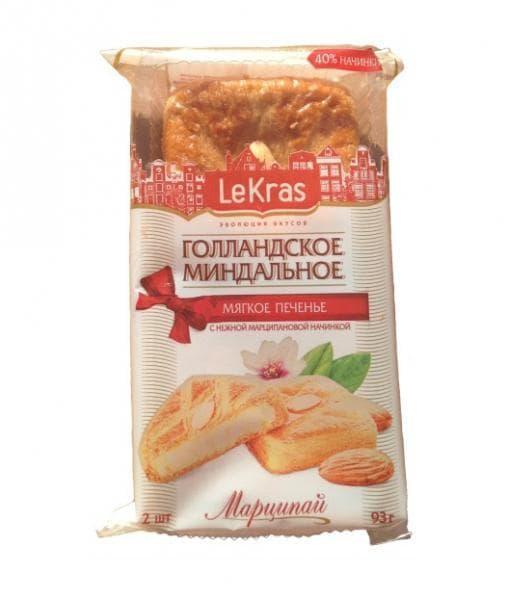 Печенье Голландское Миндальное МАРЦИПАЙ LeKras 93г