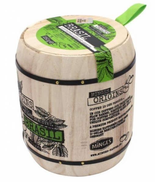 Кофе в зернах Minges Brasil в дер. бочке 250 г (0.25 кг)